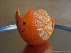 Clementines were basically born to be snails. | 19 Easy And Adorable Animal Snacks To Make With Kids