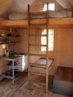 Tiny house with loft sleeping over kitchen and dining area. If you like please…