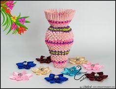 origami 3d vase tutorial: mikaglo.blogspot.com
