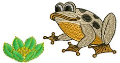 4X4 Baby Frog Embroidery Design 032