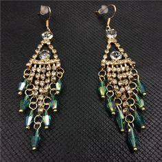 4.07€ - Geometric Crystal Drop Earrings Women 1844 - Best Lady Jewelry Store