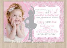 Princess Ballerina Birthday Invitation - DIY Custom Printable