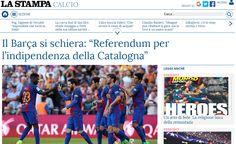 Guifré Jordan @enGuifre– La notícia de l'adhesió del Futbol Club Barcelona al Pacte Nacional pel Referèndum ha aixecat polseguera tant a Catalunya com a la resta de l'Estat, però també ha acabat creuant fronteres. Alguns dels principals mitjans de comunicació del món se n'han fet ressò, cosa que també ha portat el projecte de referèndum de la Generalitat a la premsa d'arreu. Diaris com USA Today, La Stampa, Le Figaro oEl Universo ho han reflectit donant el context de la cita inajornable…
