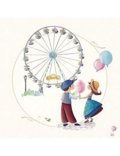 """Carte d'Art """"Paris, la Grande Roue"""""""