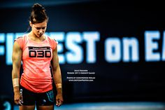Julie Foucher in the 2012 Crossfit Games. She is BEAST and my motivation. I've been in Crossfit for a month, but I hope to have a bod like her soon!