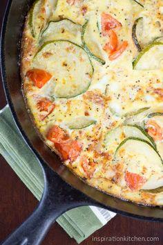 Zucchini Onion Fritatta | Inspiration Kitchen