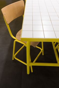 Funky Furniture, Space Furniture, Furniture Design, Harrison House, Tiled Coffee Table, Tile Tables, Pastel Decor, Tile Countertops, Restaurant Tables