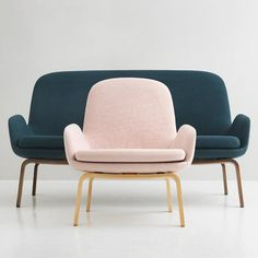 Danish designer Simon Legald has added a two-seater sofa to his Era lounge collection for Normann Copenhagen, responding to market demand for smaller sofas