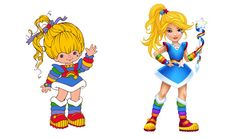 Rainbow Brite...before and now? I've never seen that version of her.