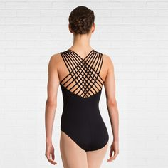 Plume's stunning multi-strap back leotard features a gathered front design. Front lining.86% microfibre, 14% lycra.
