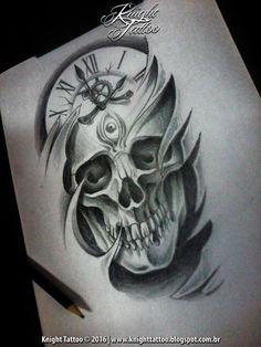#skull #blackandgrey #tattoodesign #tattooart