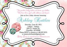 Baby shower invite idea