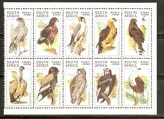 Raptors South Africa 1998 African Animals, Sierra Leone, Postage Stamps, South Africa, Paper Art, Birds, Raptors, Collections, Money