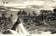 Grotli Western Norway early 1900 A Sami Lavvo tent by saamiblog, via Flickr