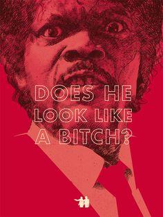 Jules Winnfield Portrait, Pulp Fiction, Samuel L Jackson, Quentin Terentino