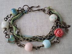 Gaea Bead Valentine Bracelet by The junquerie on Etsy