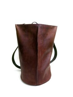 Leather duffle backpack