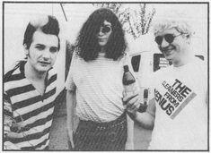 Dave Vanian, Joey Ramone, and Captain Sensible
