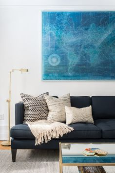 """Homepolish Interior Design   Man, those pillows are nice. <a href=""""https://www.pinterest.com/Homepolish/spring-refresh/"""" target=""""_blank"""">Wish we could win them...</a>"""