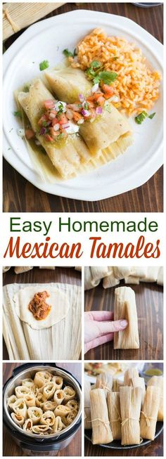 Recipe and instructions for Mexican tamales that you can steam or make in your instant pot. Pork and chicken tamales with red and green sauce. via tamales mexican instantpot chicken pork homemade mexicanos authentic 351210470941546938 Pork Tamales, Chicken Tamales, Chicken Tamale Pie, Masa For Tamales, Pozole, Mexican Dishes, Mexican Food Recipes, Dinner Recipes, Mexican Meals