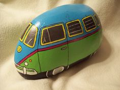 Teal/Green/Pink VW Volkswagen Bus