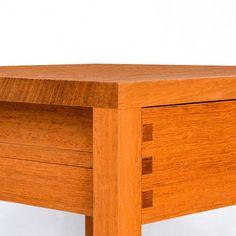 MESA CABECEIRA – Bedside table with drawer, detail, by Eduardo Souto de Moura