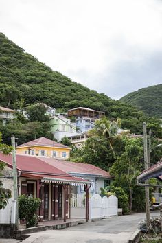 crisisphotography: Street of Les SaintesTerre-De-Haut Guadeloupe© Quentin Christopher Dayer - Crisis Photography - www.crisisphotography.tumblr.com - All rights reserved #guadeloupe #madeinguadeloupe #lessaintes #caribbean #landscape #houses #case #cases #fwi #westindies #escape #travel Caribbean Art, My Land, West Indies, Vacation Trips, Photos, Tropical, France, Explore, Landscape