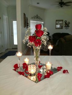 Roses Wedding centerpiece
