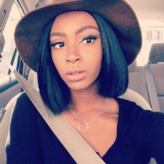 Best Ideas For Short Haircuts : Blunt bob Louise Cote.tam Read the article here – blackhairinformat…… Best Human Hair Wigs, Remy Human Hair, Short Bob Hairstyles, Weave Hairstyles, Black Hairstyles, Bob Haircuts, African Hairstyles, Prom Hairstyles, Pretty Hairstyles
