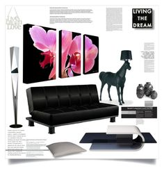"""Living the dream"" by ildiko-olsa ❤ liked on Polyvore featuring interior, interiors, interior design, home, home decor, interior decorating, FontanaArte, Moooi, Dot & Bo and M&Co"