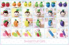 frutas,frutas personajes y lapices de colores!