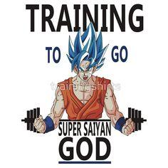 Training to go Super Saiyan God