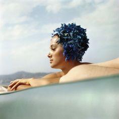 Sylvia Empain, Juan-les-Pins, August 1961 (Lartigue)