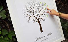 'Árvore' com impressões digitais substitui o livro de assinaturas - Casamento - UOL Mulher