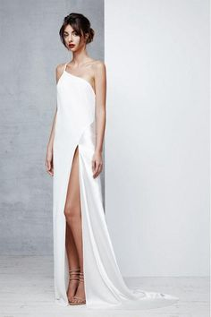 Sheath/Column One-Shoulder Sexy Prom Dress with Split Front – Angrila Source by mylenetorres Dresses Sexy Dresses, Evening Dresses, Prom Dresses, Formal Dresses, Wedding Dresses, Fall Dresses, Sexy Gown, Chiffon Dresses, Bridesmaid Gowns
