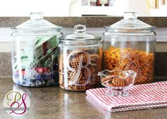 Faux Etched Glass Snack Jars - Perfect for Dog Pack Snacks #Dog #Treats