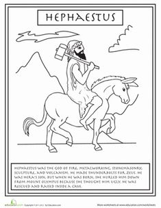Get to know your Greek gods and goddesses with this series of Greek mythology coloring pages, complete with fun facts about each god. Greek And Roman Mythology, Greek Gods And Goddesses, Celtic Mythology, Greek Pantheon, Greek Week, Roman Gods, Cool Coloring Pages, Greek Art, Ancient Greece