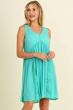 Mint Sleeveless Cinched dress