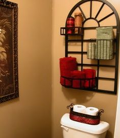Pot Rack for Powder Room. From Far Above Rubies.