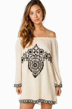 ShopSosie Style : Ciella Tunic Dress in Beige
