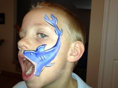 I like how this Shark turned out.  - Face Painting by Jennifer Van Dyke
