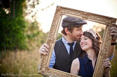"A ""framed"" wedding announcement. Engagement Couple, Engagement Pictures, Engagement Shoots, Couple Photography, Engagement Photography, Photography Poses, Prom Poses, Wedding Poses, Cow Face"