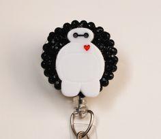 Disney Baymax On Black ID Badge Reel - Retractable ID Badge Holder - Zipperedheart by ZipperedHeart on Etsy https://www.etsy.com/listing/242871429/disney-baymax-on-black-id-badge-reel