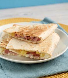 Hawaiian Ham Quesadillas