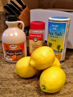"The Master Cleanse is better know as the ""lemon, maple syrup and cayenne pepper diet"" but I would not call it a diet in the regular sense of food change."