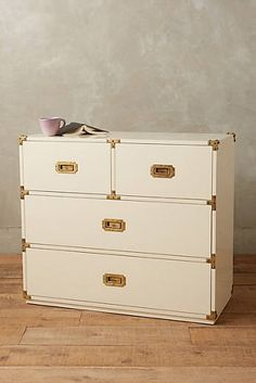 Lacquered Wellington Four Drawer Dresser