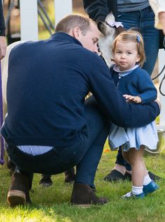 Prince William, Duke of Cambridge and Princess Charlotte of Cambridge attend a children's party for Military families during the Royal Tour of Canada on September 29, 2016 in Victoria, Canada.