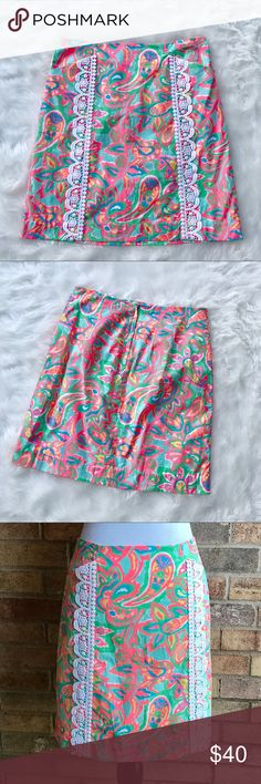 Lilly Pulitzer Corrie skirt in Make a Splash print Beautiful Lilly skirt in Make a Splash print! How fun! Excellent used condition - no rips, tears, or stains. Lilly Pulitzer Skirts Pencil