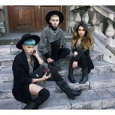 #friends #witch #photoshoot #androgyny #boy #girl #blackhat
