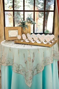 Mint and Gold Winter Wedding Inspiration Shoot Wedding Mint Green, Aqua Wedding, Tiffany Wedding, Wedding Table, Wedding Colors, Dream Wedding, Wedding Themes, Wedding Decorations, Wedding Ideas